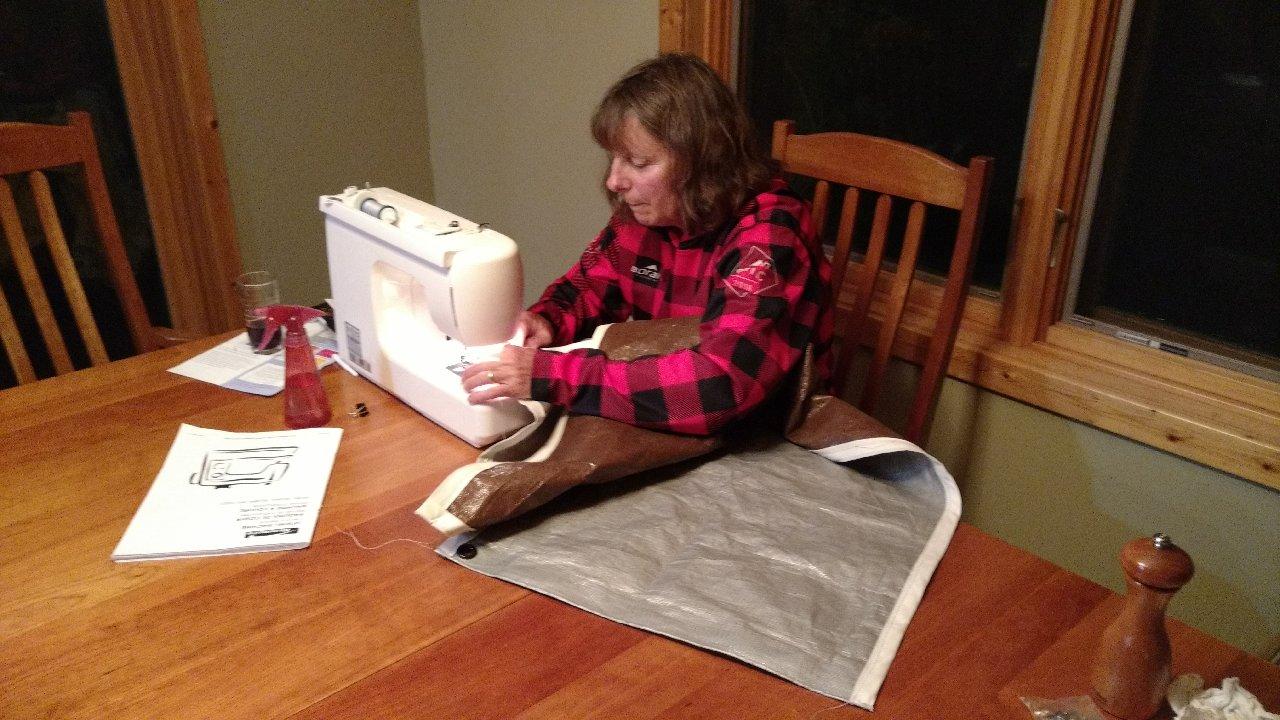 sewing rain flaps
